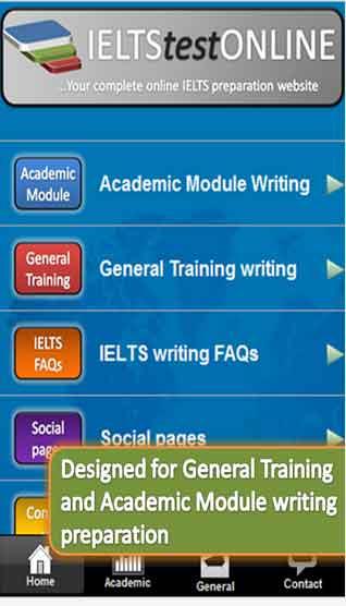 IELTS writing samples app